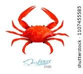 crab vector illustration in... | Shutterstock .eps vector #1107455585