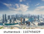 aerial view of modern city... | Shutterstock . vector #1107456029