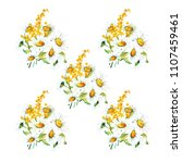 seamless floral pattern with... | Shutterstock .eps vector #1107459461