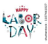 3 september labor day poster or ...   Shutterstock .eps vector #1107461027