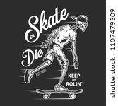 vintage skateboarding white... | Shutterstock .eps vector #1107479309