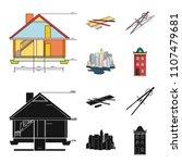 drawing accessories  metropolis ... | Shutterstock .eps vector #1107479681
