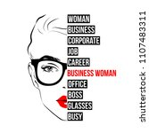 fashion business woman in... | Shutterstock .eps vector #1107483311