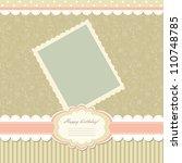 romantic scrapbooking for... | Shutterstock .eps vector #110748785