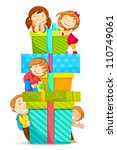 vector illustration of kids... | Shutterstock .eps vector #110749061
