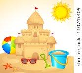 vector illustration of sand... | Shutterstock .eps vector #110749409