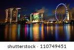 singapore   july 21  fireworks... | Shutterstock . vector #110749451