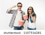 young crazy couple  woman and... | Shutterstock . vector #1107516281