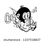 cartoon vape label isolated. e... | Shutterstock .eps vector #1107518837