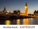 the big ben  the houses of... | Shutterstock . vector #1107520139
