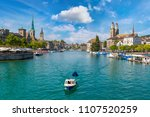 historical part of zurich with... | Shutterstock . vector #1107520259