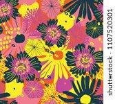 vector flower pattern.... | Shutterstock .eps vector #1107520301