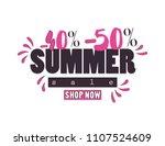summer sale web banner. | Shutterstock .eps vector #1107524609