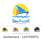 sea travel logo symbol template ... | Shutterstock .eps vector #1107534971