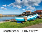 the pretty fishing village at... | Shutterstock . vector #1107540494