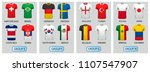 set of football jerseys for... | Shutterstock .eps vector #1107547907