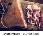 homemade dry cured ham | Shutterstock . vector #1107554801