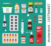 medicines collection isolated... | Shutterstock .eps vector #1107566837