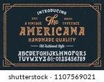 original handmade alphabet with ... | Shutterstock .eps vector #1107569021