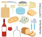 french cheese board with vector ... | Shutterstock .eps vector #1107571541