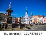 cental town square of ceske...   Shutterstock . vector #1107578597