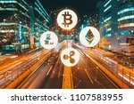 cryptocurrency with view of... | Shutterstock . vector #1107583955