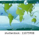 communication  abstract world... | Shutterstock .eps vector #11075908