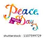 international peace day.... | Shutterstock .eps vector #1107599729