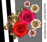 silk scarf design  fashion... | Shutterstock . vector #1107605744