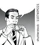 vector black and white comic... | Shutterstock .eps vector #1107609221
