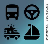 vector icon set about transport ... | Shutterstock .eps vector #1107610211