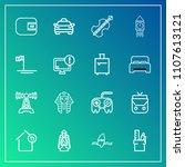 modern  simple vector icon set...   Shutterstock .eps vector #1107613121