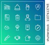 modern  simple vector icon set... | Shutterstock .eps vector #1107613745
