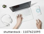 flat lay composition with...   Shutterstock . vector #1107621095