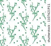 hand drawn christmas seamless... | Shutterstock .eps vector #1107621911