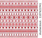 hand drawn christmas seamless...   Shutterstock .eps vector #1107621941