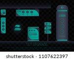 set signage.office exterior... | Shutterstock .eps vector #1107622397