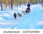 rovaniemi  finland   march 5 ...   Shutterstock . vector #1107624584