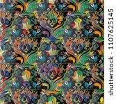baroque seamless pattern.... | Shutterstock .eps vector #1107625145