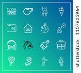 modern  simple vector icon set... | Shutterstock .eps vector #1107625964
