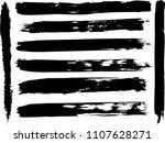 set of grunge brush strokes    | Shutterstock .eps vector #1107628271