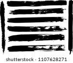 set of grunge brush strokes    | Shutterstock .eps vector #1107628271