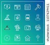 modern  simple vector icon set...   Shutterstock .eps vector #1107629411