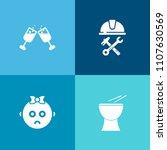 modern  simple vector icon set... | Shutterstock .eps vector #1107630569