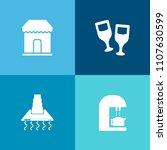 modern  simple vector icon set... | Shutterstock .eps vector #1107630599