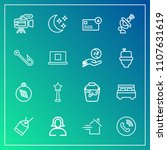 modern  simple vector icon set... | Shutterstock .eps vector #1107631619
