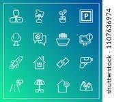 modern  simple vector icon set...   Shutterstock .eps vector #1107636974