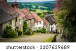 old english limestone houses... | Shutterstock . vector #1107639689
