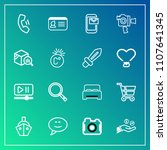 modern  simple vector icon set... | Shutterstock .eps vector #1107641345