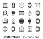 watch silhouette icons set.... | Shutterstock .eps vector #1107642761